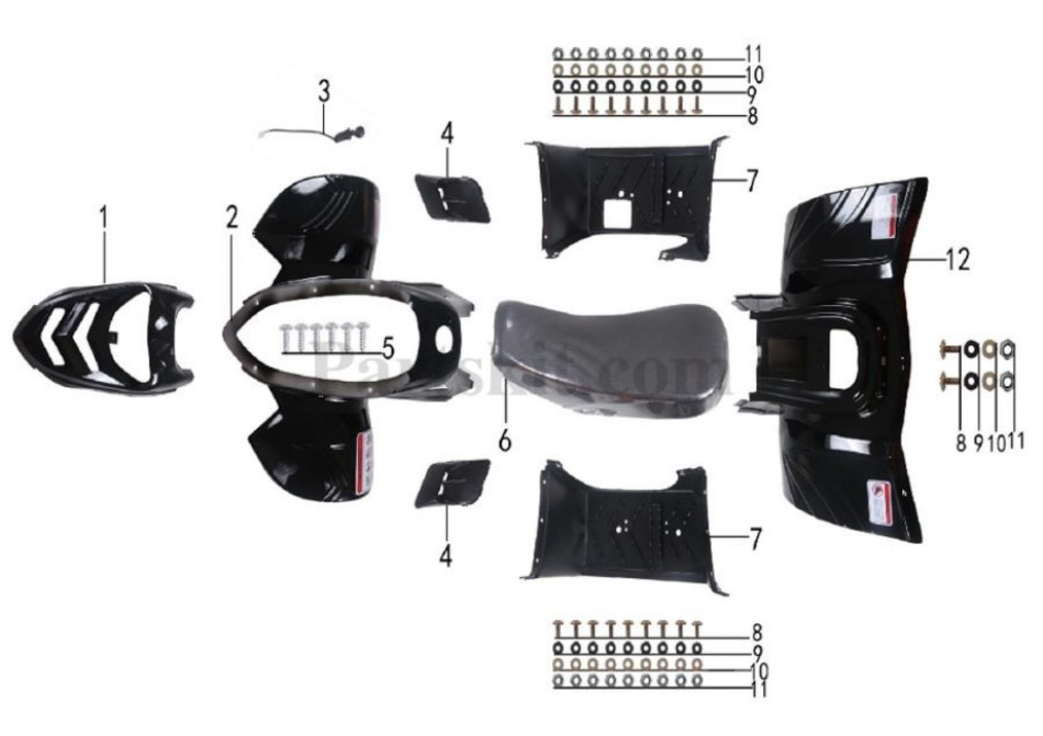 body parts for atv taotao ata 110 b -vtt lachute