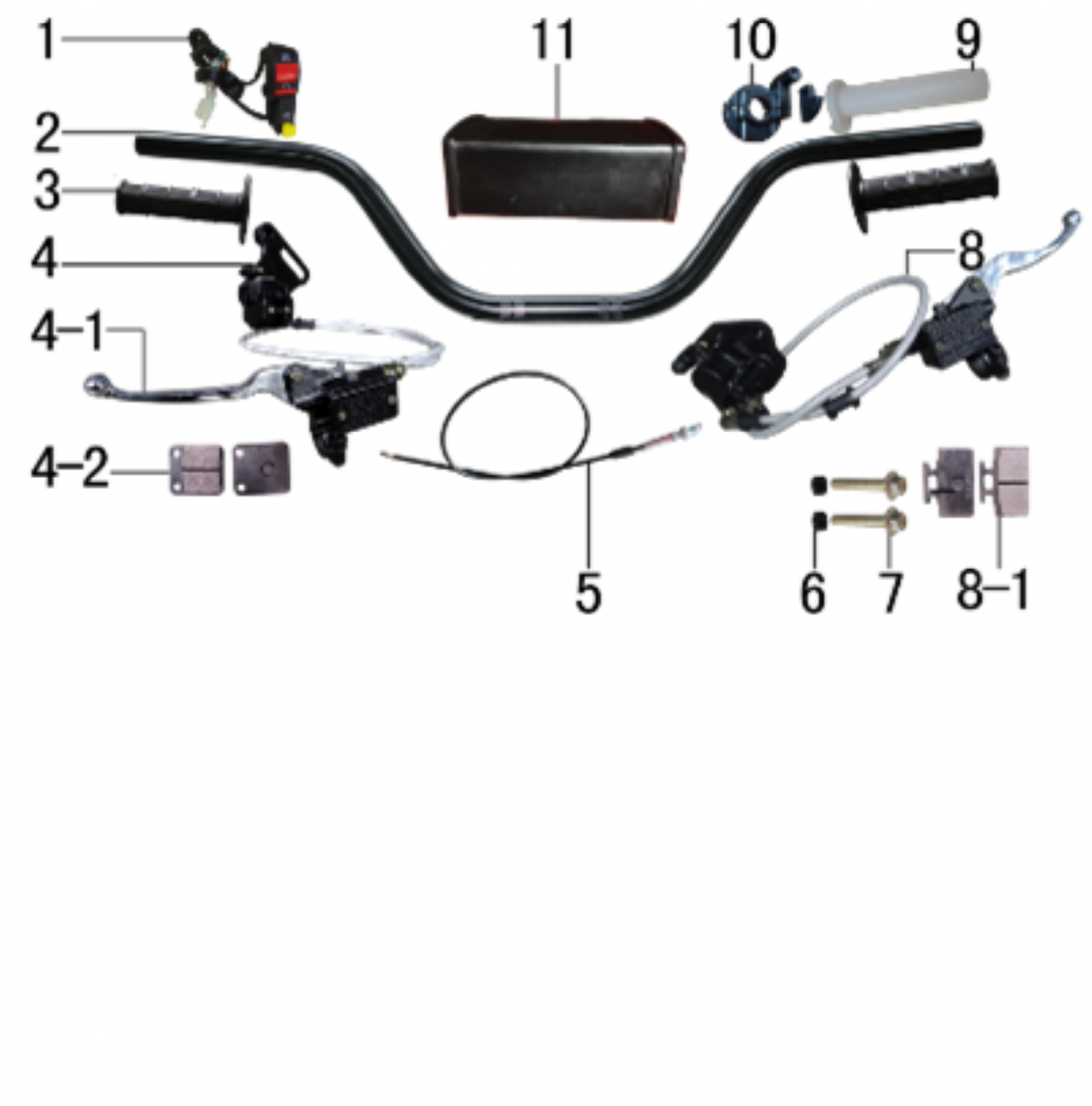 BODY AND SEAT FOR APOLLO RFZ  X15  125CC - VTT LACHUTE