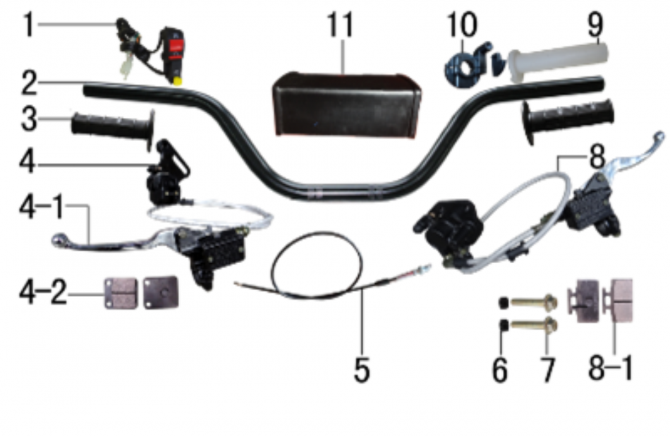ELECTRIC PARTS  FOR APOLLO RFZ  X15  125CC - VTT LACHUTE