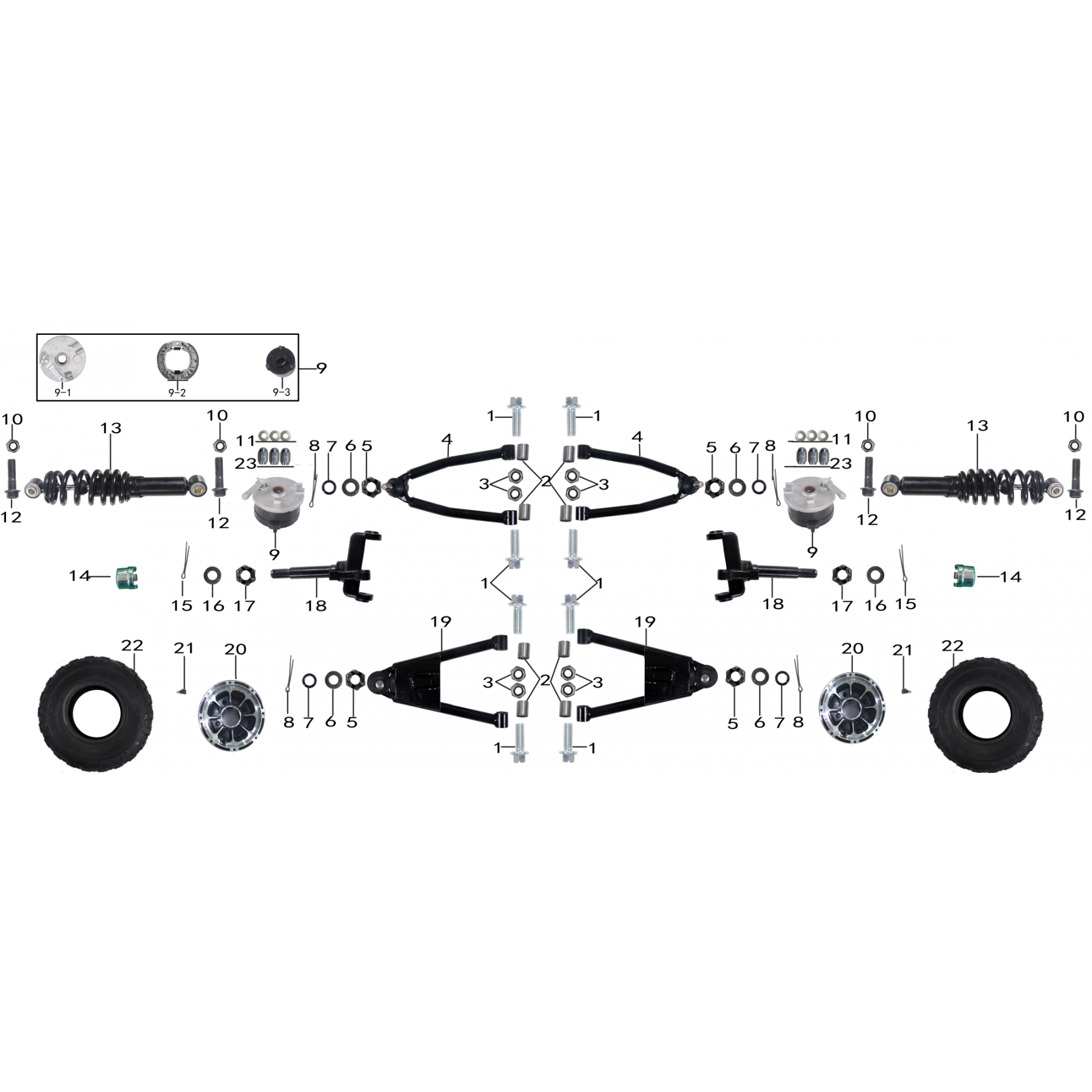 front and suspension parts for atv taotao NEW CHEETAH - VTT LACHUTE