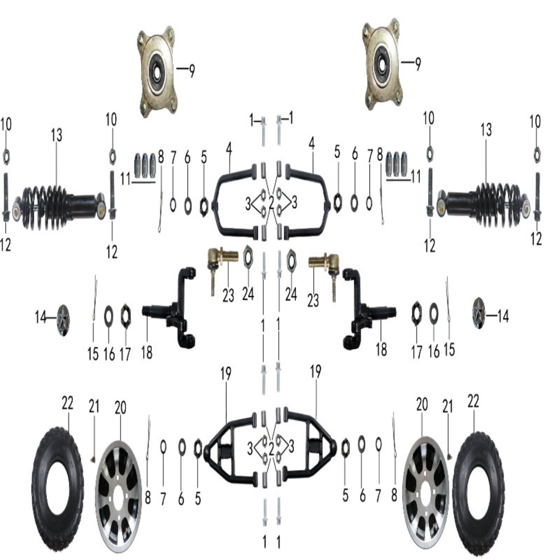 parts for front suspension of atv taotao bull 200-atv lachute