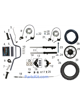 STEERING AND FRONT SYSTEM FOR TAOTAO DB 20