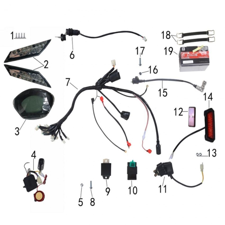 electric system for atv taotao rex - vtt lachute