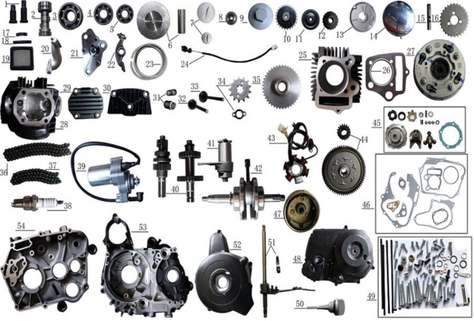 engine parts for atv taotao ATA 125D - VTT LACHUTE